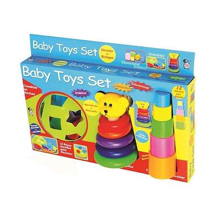 Kit Brinquedos Didáticos Para Bebês Formas e Cores