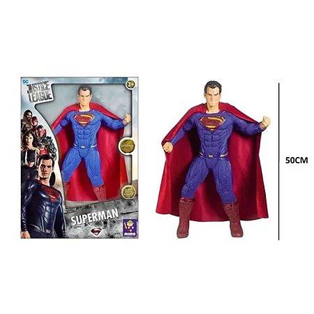 Boneco Gigante Articulado 50 Cm Superman Liga Da Justiça