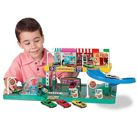 Brinquedo Carrinhos Posto Splach Center Grande Meninos