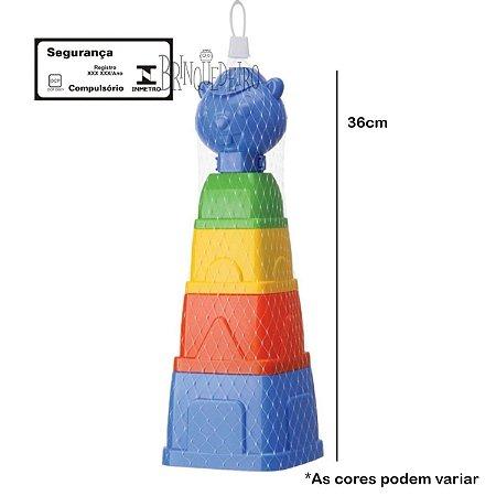 Brinquedo Para Bebê Didático Colorido Torre Castor
