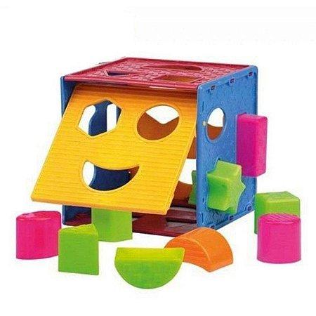 Brinquedo Para Bebê Cubo Didático Colorido
