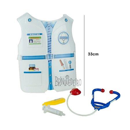 Brinquedo Kit Médico Colete Peitoral Com Acessórios