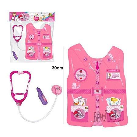 Brinquedo Kit Médica Colete Peitoral Com Acessórios