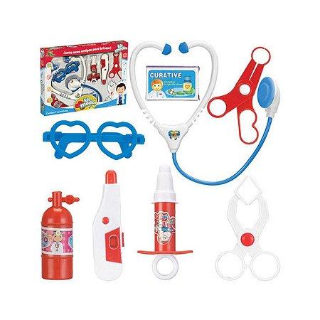 Brinquedo Kit Médico Com 8 Acessórios Divertido