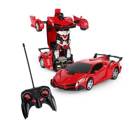 Brinquedo Transformers Carro Robô Com Controle Remoto
