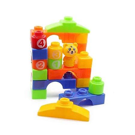 Brinquedo Blocos de Montar Infantil 23 peças