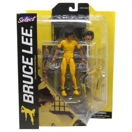 Boneco Articulado Bruce Lee Diamond Select Yellow Jumpsuit