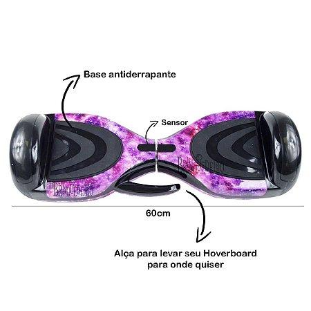 Skate Eletrico Hoverboard Galáxia Espaço Com Alça