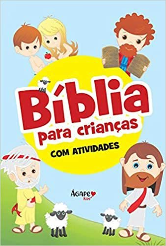 Livro Bíblia Para Crianças Com Atividades Capa Dura