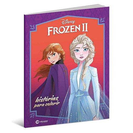 Livro Frozen 2 Historias para Colorir 63 Páginas