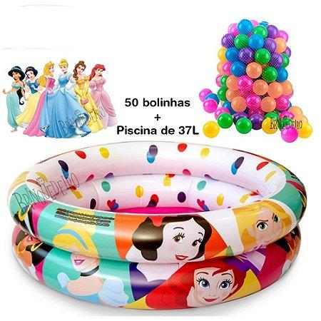 Piscina de Bolinha Infantil Princesas 37L com 50 Bolinhas