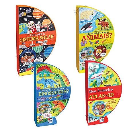 Livros Atlas 3D Globo 4 Temas Didáticos Escolar