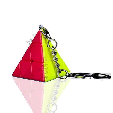 Cubo Mágico Mini Piraminx Stickerless Chaveiro