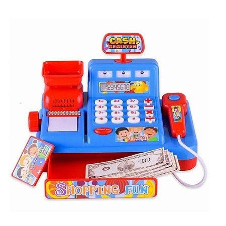 Brinquedo Super Caixa registradora 37cm Cartão e Dinheiro