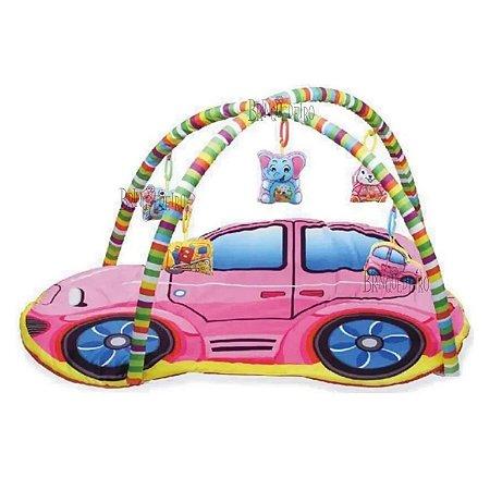 Tapete do Bebê com Mobile Carro Rosa