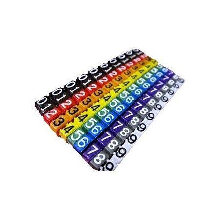 Identificador de cabos de rede CAT5 ou CAT6 com 100 pcs multicolor em Anilhas