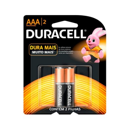 Pilhas AAA Alcalina pacote com 2 pilhas palito - Duracell