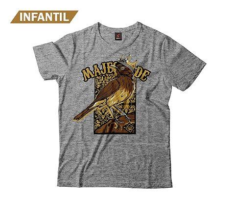 Camiseta Infantil Eloko Majestade O Sabiá