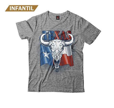 Camiseta Infantil Eloko Texas Skull