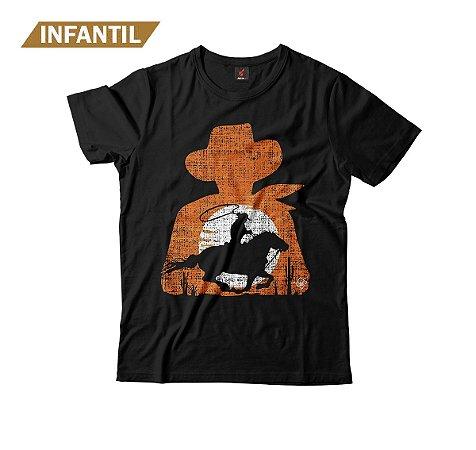 Camiseta Infantil Eloko Cowboy Silhueta