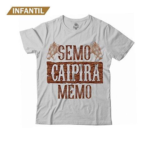 Camiseta Infantil Eloko Semo Caipira Memo