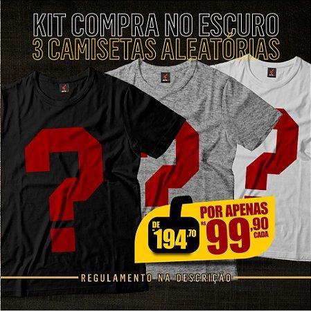 Kit Compra no Escuro - 3 Camisetas Aleatórias