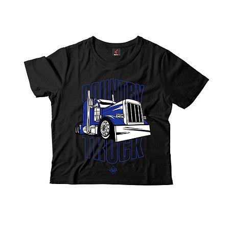 Camiseta Infantil Eloko Country Truck - Azul
