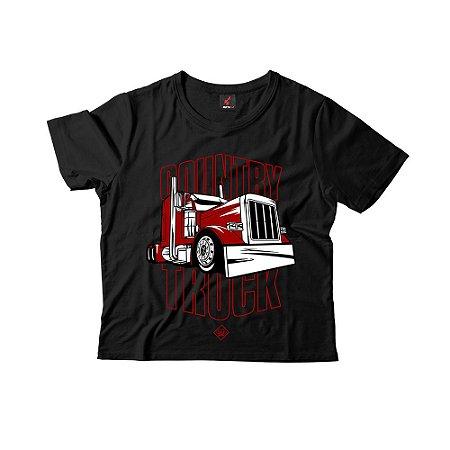Camiseta Infantil Eloko Country Truck - Vermelho