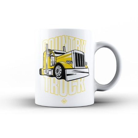 Caneca Eloko Country Truck Amarelo