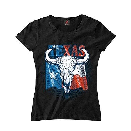 Baby Look Eloko Texas Skull