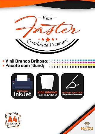 Papel Vinil Adesivo Ink Jet Branco Brilhoso - Pacote com 10 unid.