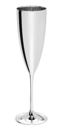 Taça Champanhe Prime 170ml - Metalizada Prata