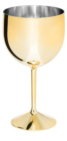 Taça Gin Shelby 550ml - Metalizada Dourada