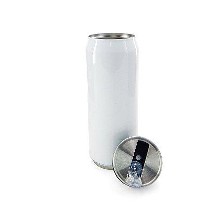 Lata Térmica para Sublimação em Aço Inox Branca com Parede Dupla - 500ml