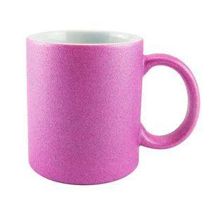 Caneca para Sublimação de Cerâmica Glitter Rosa Pink