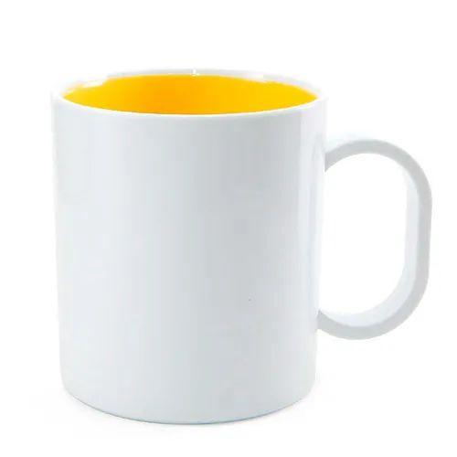 Caneca de Polímero com Interior Amarelo Gema