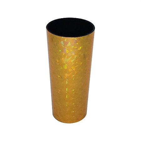 Copo Long Drink Metalizado ouro holográfico