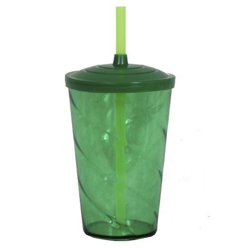Copo Euphoria Twister 700ml - Verde Lodo Neon
