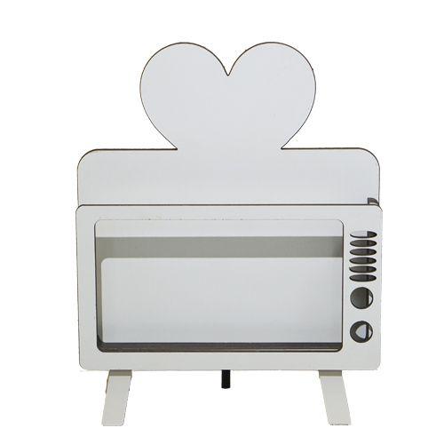 Porta Celular TV Coração - MDF