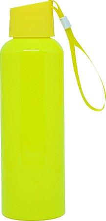 Squeezer Plástico 500ml com Cordão - Amarelo