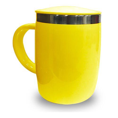 Caneca Isotérmica 450ml - Amarela