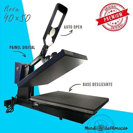 Prensa Térmica Plana 40X50 c/ Abertura Automatica e base retratil - MUNDI