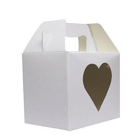 Caixa p/ caneca c/ alça (abertura coração)