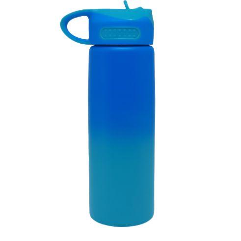 Squeeze bico retrátil 600ML bicolor (AZUL/TIFFANY)