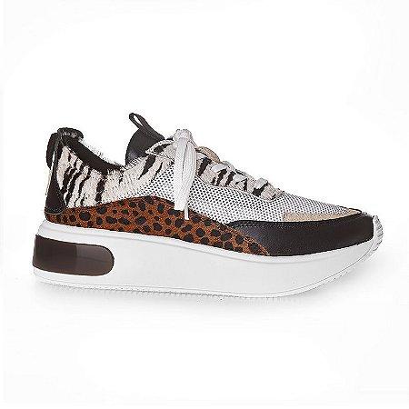 Tênis Sneakers Detalhes em Animal Print - 11410