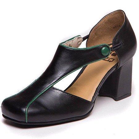 Sapato Retro em Couro - 6001