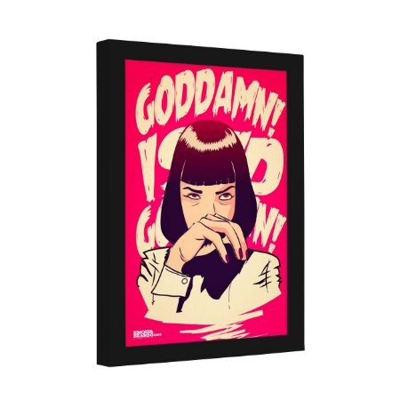 Quadro Decorativo Mia Wallace Goddamn Pulp Fiction