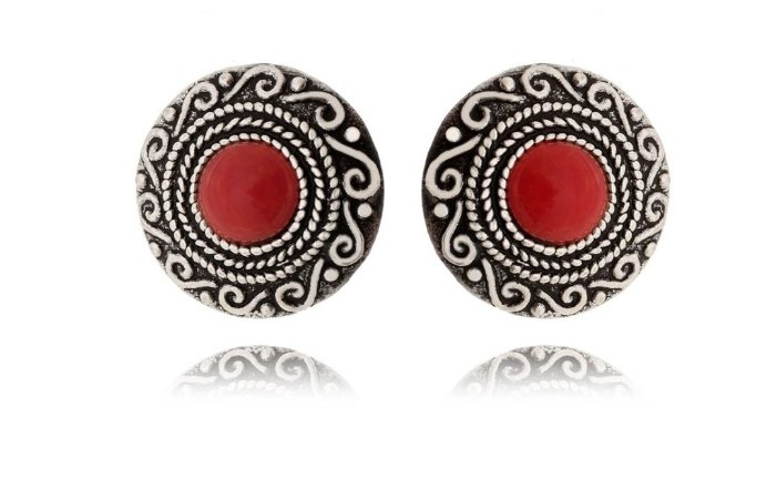 Brinco Mandala Maori Vermelha