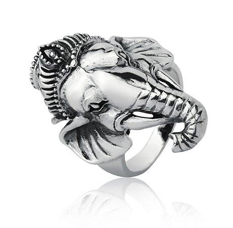 Anel de Prata Ganesha