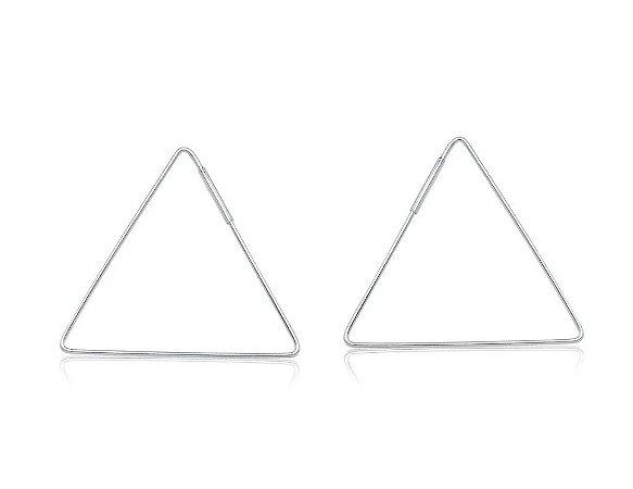 Argola Triângulo 40mm Prata 925